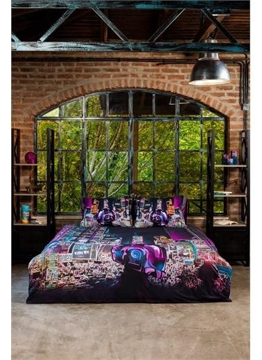 home-bath Çift Kişilik Nevresim Takımı Cyperpunk Renkli